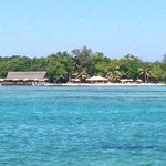 The restaurant and Calypso beach