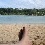Relaxing on calypso beach