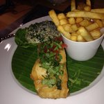 Fish (Cod) & Chips. I fell in love with the tarter sauce the comes with it.