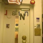 Entrance to Just Inn at the 7th floor.