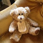 Every room comes with a teddy bear friend :)