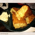 Side of cornbread...I get one every time I visit...