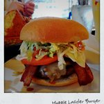 Muzzle Loader Burger. It dripped down my arms... The messier the better I my books!