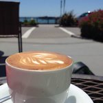 Perfect Macchiato and a view of the Pacific