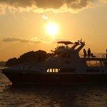 マリソル号から眺める夕日