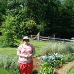 Exploring the garden