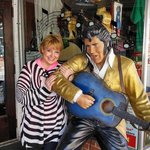 It's always fun at Yana Mama's when Elvis greets you!!
