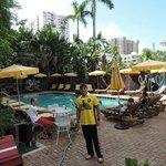 De dia na piscina do Freehand