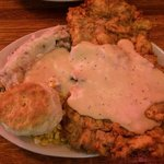 Big enough for 2!!! Chicken fried steak.....the bomb!