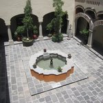One of the interior courtyards
