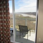 Suite 401: Balcony off the bedroom. Views of Madison and the Ohio River.