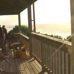 Watching the sunset on the veranda