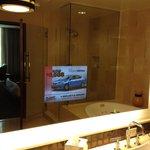 TV is the bathroom mirror