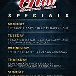 Specials, Food, Drinks, Happy Hour