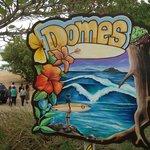 Sign at Domes Beach
