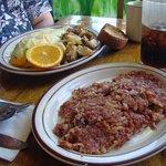 Delicious corned beef hash