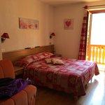 La nostra stanza con vista Monte Bianco