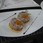 Housemade rabbit rillette with apricot puree
