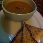 Pumpkin soup with flavour-ful garlic toasts