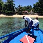 Arriving at Siladen Island & Siladen village