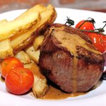 Signature steak dish