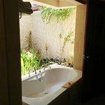 partially open bathroom