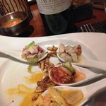 Tasty ceviche and reasonably priced wine - great dinner!
