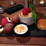 Our dessert platter - AMAZING  Even better to find out it was all made on site - what talent!!!