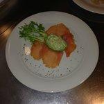 starter on Christmas eve - Avocado tartare with smoked salmon