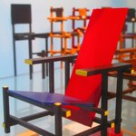 Scale model of the famous Rietveld chair