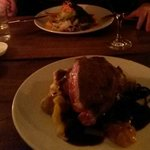 Entrecote and rabbit candle lit dinner-mmmm!