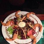 New shrimp tail salad with citrus drizzle!