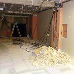 Building work on bottom floor