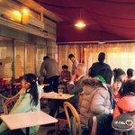 breakfast scene at sakura cafe