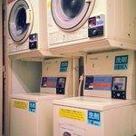 100 yen coins washing machine and dryer