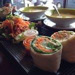 Tea roll combo and salad