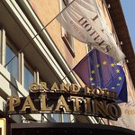 Outside view of the Palatine Grand Hotel.