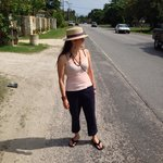 Walking to the downtown area in Negril
