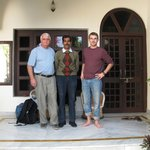 My Son and I with tour driver (center) recommended by Ajit Rathore at Chinar Villa entrance