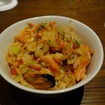 Claypot seafood rice