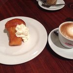 Rum Baba Cake with coffee