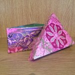 Decopatch uses patterned papers and glue to create a beautiful finish on pottery or papier mache