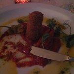 Lentil and cumin croquette