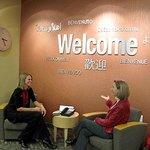 Greater Lansing Visitor Center lobby seating