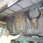 Ifugao hut down at back of hotel