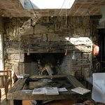 Chimney - preferred place for winter dinners