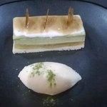Gateaux au thé vert et sa glace vanille maison
