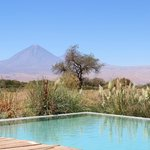 View of the volcano from the pool