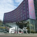Front view of Aloft Hotel
