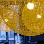 V'n V restaurant lights Radisson BLU Royal Hotel Dublin